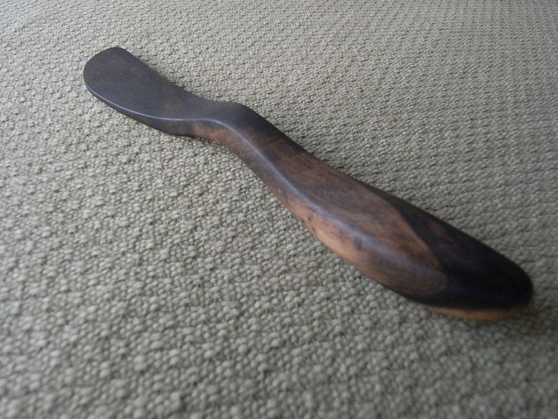 画像5: 無垢の木のバターナイフ(柘植・黒柿)
