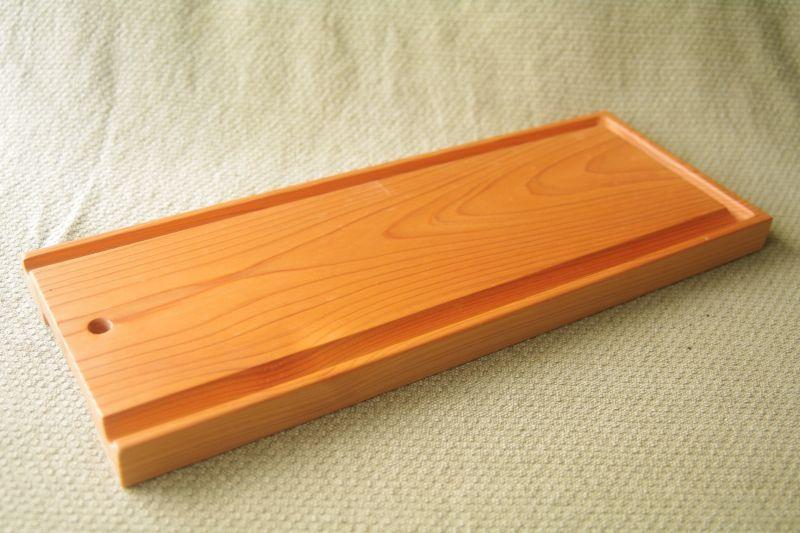 画像1: 桧のカッティングボード(溝付き)